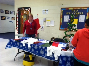 Pam Varghese volunteers at the Holiday Store.